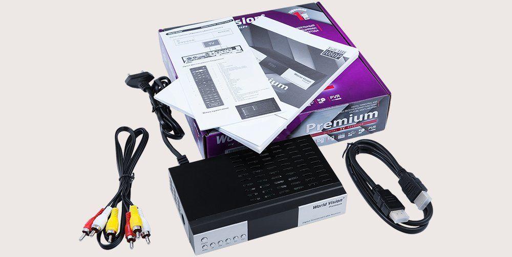 World Vision Premium  - ресивер DVB-T2 / DVB-C / IPTV з Інтернет функціями і ВЧ-модулятором.